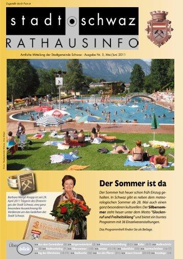 Rathausinfo Nr. 5 2011 - Schwaz