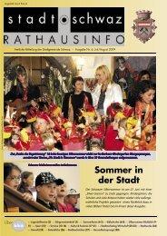 Rathausinfo Ausgabe Juli/August 2009 - Schwaz