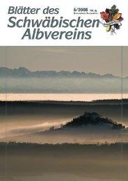 Blätter des Schwäbischen Albvereins Ausgabe 6 ... - Schwaben-Kultur