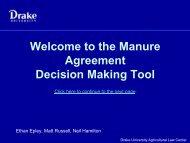 the Manure Agreement Decision Making Tool - Drake University ...