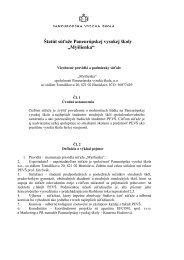 Pravidlá - Paneurópska vysoká škola