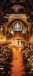 2011 Update - Christ Church Cathedral Vancouver