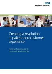 Creating a revolution in patient and customer experience
