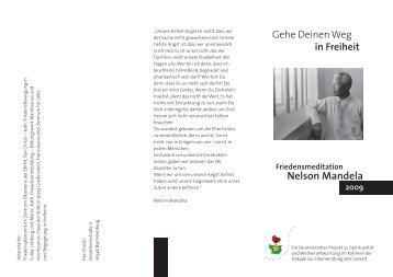Nelson Mandela - Pax Christi Bistumsstelle Limburg