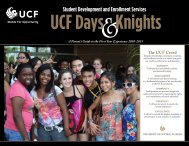 2010-2011 - The SDES Archive - University of Central Florida
