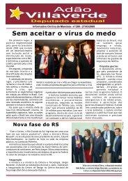 Sem aceitar o vírus do medo - Adão Villaverde