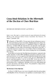 Cross-Strait Relations in the Aftermath of the Election of Chen Shui ...