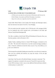 LLOYDS TSB LAUNCHES 2012 MORTGAGE - Lloyds Banking Group
