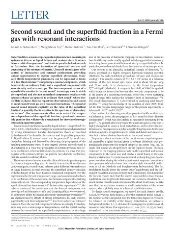Second sound and the superfluid fraction in a Fermi gas with ...
