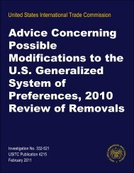 Advice Concerning Possible Modifications to the U.S. ... - USITC