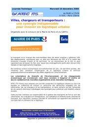 Villes, chargeurs et transporteurs - Atec/ITS France