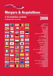 Mergers & Acquisitions 2008 - SSEK