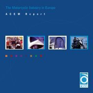 The Motorcycle Industry in Europe - Right To Ride