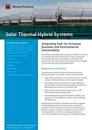 Solar Thermal Hybrid Systems - WorleyParsons.com