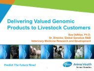 Delivering Valued Genomic Products to Livestock Customers - ICAR