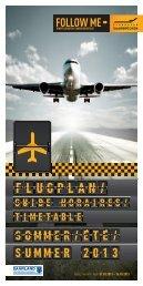 Flugplan | Guide Horaires |Timetable - Flughafen Saarbrücken