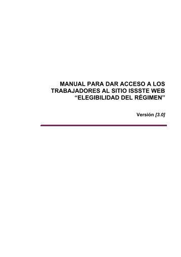 manual para dar acceso a los trabajadores al sitio issste web