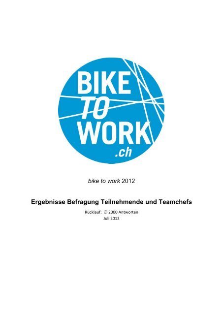 Umfrageresultate - Bike to work