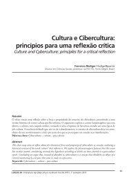 Cultura e Cibercultura: princípios para uma reflexão crítica - Logos