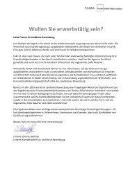 Wollen Sie erwerbstätig sein? - WiR GmbH Landkreis Ravensburg