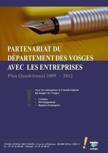PARTENARIAT AVEC LES ENTREPRISES 2011 - CCI des Vosges