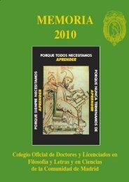 MEMORIA-2010 1 - Colegio de Doctores y Licenciados