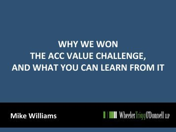 why we won the acc value challenge, and what you can learn from