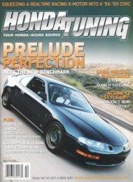Honda Tuning Article - Dali Racing
