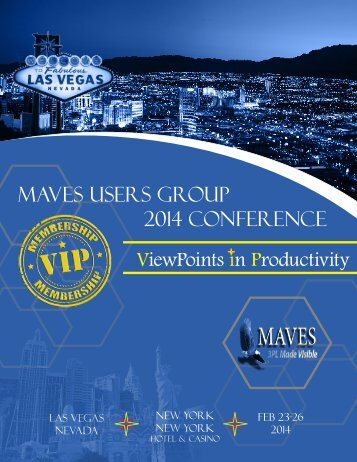 MAVES 2014 Users Group Conference - Agenda and Registration Form