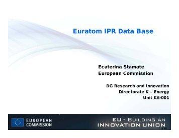 Euratom IPR Data Base - Fusion For Energy