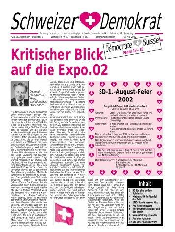 Kritischer Blick auf die Expo.02 - Schweizer Demokraten SD