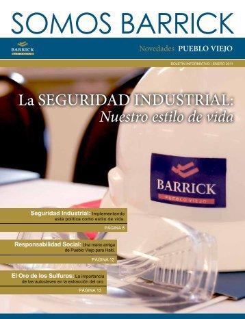 La SEGURIDAD INDUSTRIAL: - Barrick en Pueblo Viejo