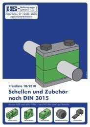 Schellen und Zubehör nach DIN 3015 - HS-Befestigungssysteme