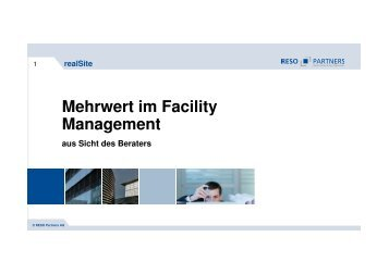 Mehrwert im Facility Management - RESO Partners AG