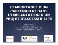 L'IMPORTANCE D'UN PARTENARIAT DANS L ... - AERDPQ