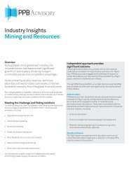 Industry Insights Mining and Resources - PPB Advisory