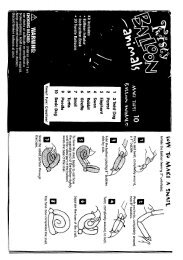 Balloon animals -- instructions from Pioneer National Latex (sold