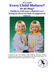 Every Child Matters - Children with Diabetes