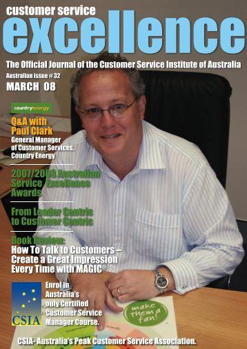 Issue 32 - Customer Service Institute of Australia
