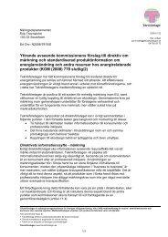 Förslag till direktiv om märkning och ... - Teknikföretagen