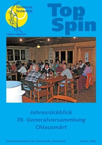 TopSpin 1/08 - Tennisclub Teufenthal