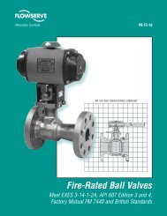 Fire-Rated Ball Valves - Flowserve Corporation