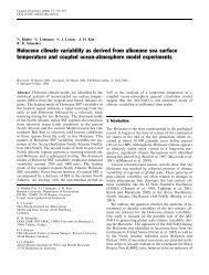 Holocene climate variability as derived from alkenone sea ... - ePIC