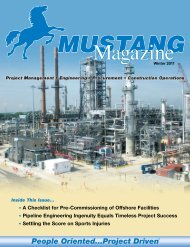 Winter 2011 - Mustang Engineering Inc.