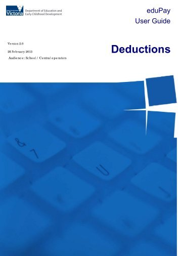Deductions User Guide