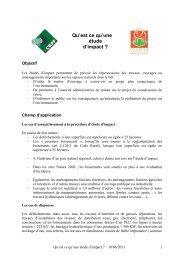 Qu'est ce qu'une étude d'impact - CRPF Limousin
