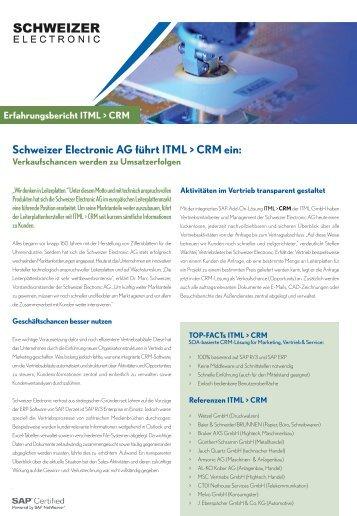 Erfahrungsbericht Schweizer Electronic AG führt ITML > CRM ein