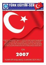 tes bulten ocak 07.indd - Türk Eğitim-Sen