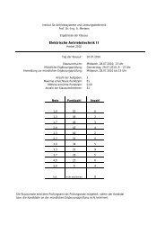 Elektrische Antriebstechnik II - Institut für Antriebssysteme und ...