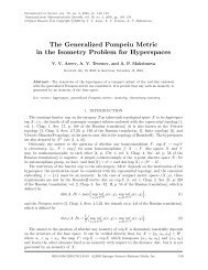 The Generalized Pompeiu Metric in the Isometry Problem for ...